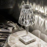 Table Lamps Italian Kartell Battery Desk Lamp USB Touch Sensor Bar Light Decor Restaurant Romantic Nightlight Fixture Bed