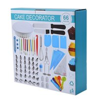 Baking & Pastry Tools 66 Pcs Cake Decorating Kit Stand Turntable Bags Cream Nozzle Rotary Table Supplies Set