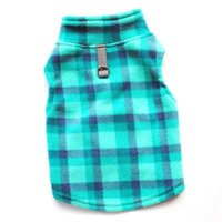 Dog Apparel Pet Puppy Clothes Autumn And Winter Warm Fleece Plaid Sweater With Traction Button Supplies