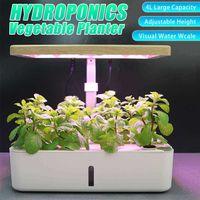 Desk Lamp Hydroponic Indoor Herb Garden Kit Smart Multi-Function Growing Led Lamp for Flower Vegetable Plant Growth Light 210615