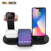 Qi 4 in 1 Wireless Charger For iPhone Charging Dock Station Apple Watch Airpods Micro USB Type C Stand Fast