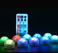 2021 LED lights with remote control for glass bongs oil rigs hookah and battery shisha water pipe and fish tank flower vase lamps