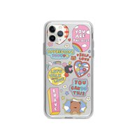 Mobile Phone Cases Cartoon iphone11 promax shell bracket apple 12 transparent anti-falling cute XR applicable