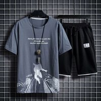 / Sports Short Shorts Casual Shorts Men's Traje Camiseta Verano Impreso Coreano Media manga fija Precio