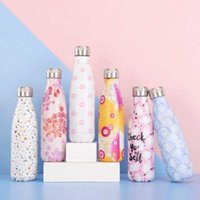 500ml Water Bottle Stainless Steel Vacuum Flask Shaker Sports Outdoor Portable Coke Bottle Thermos For Tea Insulated Cup Kids 210610