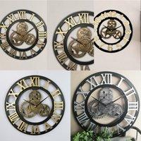 الفاخرة ساعة الحائط الصناعية والعتاد ساعة الحائط الزخرفية الرجعية المعادن الصناعية العمر نمط غرفة الديكور جدار الفن ديكور 91 v2