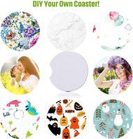 Süblimasyon Boşlukları Araba Coaster DIY Araba Bardak Tutucu Coaster Emici Neopren Boş İçecek Kupası Mat Pad Için Kendi El Sanatları