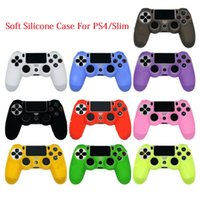 Soft Silicone Case For PS4 Slim Controllers Flexible Gel Rubber Skin Cases Cover Game Controller Accessory