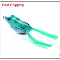Lifelike Soft Frogs Lures Sile Bait Fishing Tackle Crankbait 5.5cm 13g Fro RxG home2006