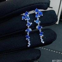 Dangle & Chandelier KJJEAXCMY Fine Jewelry 925 Sterling Silver Inlaid Natural Gemstone Sapphire Female Earrings Eardrop Noble Support Test