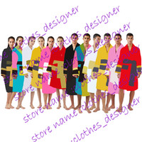 Brand Designer Sleepwear Gowns Accappatoi Unisex 100% cotone notte Robe Robe Robe di lusso traspirante Elegante abbigliamento donna di buona qualità K1739