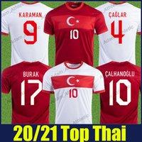Turquie Soccer Jerseys Yazici Caglar Calhanoglu Jersey Cengiz Sous Ozan Kabak Karaman Team National Team Shirts Demiral Burak Camiseta de Turquia 20/21 Top S-2XL