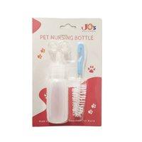 Kit de bouteille de pétanque pour animaux de compagnie de Jo, kit d'alimentation pour chiens de nouveau-nés ou chats ou petits animaux, avec 1 pinceau et 2 mamelons de remplacement.
