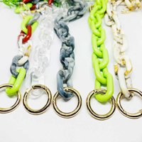 Fashion Thick Chains Colorful Big Strap Candy Acrylic Chain for Women Bags Big Handle Shoulder Crossbody Straps Bag Decoration