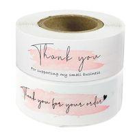 """선물 포장 120PC 핑크 """"주문을 가져 주셔서 감사합니다""""스티커 내 비즈니스 패키지 장식 인감 레이블 편지지 스티커"""