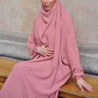 Ethnic Clothing Eid Muslim Women Hijab Long Khimar Prayer Garment Djellaba Jilbab Abaya Ramadan Gown Dubai Arab Islamic Niqab Burka Jubah