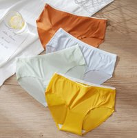 Summer ultra-thin ice silk seamless Women's Panties Underwear mid-waist bag hip anti-pinch mask pants antibacterial pure cotton breathable quick-drying 8piece lot