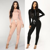 Gym Clothing Solid Tracksuit Women Set Hoodies And Pants European American Autumn Winter Women's Sports Suit Two-Piece#g4