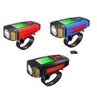Велосипедный свет передний велосипед свет 3 в 1 велосипедную фару водонепроницаемый фонарик USB аккумуляторные велосипеды велосипедные базовые аксессуары Q1202 112 x2