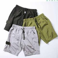 2021 Erkekler Şort Erkekler Kısa Pantolon Yaz Pantolon Sıcak Yeni Rahat Gevşek Genişletmek Mektup Baskı Düğmesi Geometrik Pantolon Pileli Streetwear Açık