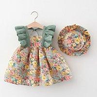 Girl's Dresses Dress 2021 Summer Flower Clothing Set Toddler Clothes Children's Baby Girl Beach