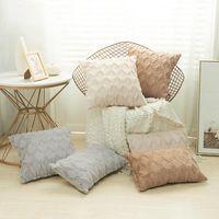 Cushion Decorative Pillow Nordic Luxury Fundas Cojines Decorativos Rectangular Plush Housses De Coussin Home Sofa Cover 45x45 50x50 40x40cm