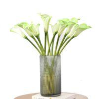 10 PC Simulation Kleine Calla Lilie PU Künstliche Blumen für Dekoration Zubehör Hochzeit Hintergrund Gefälschte Blumenlilien