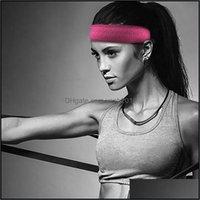 Emniyet Athletic Açık Outdoorswomens Yoga Kafa Streç Hairband Geniş Spor Elastik Saç Bandı Boho Türban Kadın Ter Bandı Spor D