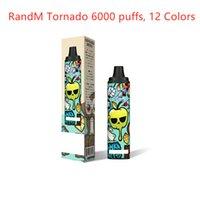 Original RandM Tornado Disposable E cigarettes Pod Device 6000 Puffs Rechargeable 12ml Prefilled Cartridge Vape Pen Vs Bar XXL