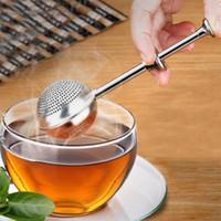 304 الفولاذ المقاوم للصدأ الشاي مصفاة الشاي infuser الكرة reusable المعادن حقيبة الشاي الطبخ التوابل تصفية فضفاض ليف القدح إبريق الشاي teaware ahf5014