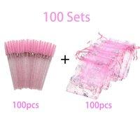 False Eyelashes 300 200 100 50 Sets Pink Eyelash Bag Colorful Butterfly Eye Lashes Packaging Box Beauty Gift Baggies Wholesale Lash Vendors