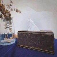 Cajas de tejidos de estilo europeo de PU Moda Diseño de papel Caja de papel Servilletas de alta calidad