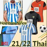 21/22 Málaga Futebol Jerseys Málaga 2021 2022 K. Bare Juanpi Adrian CF Camisa de Futebol Bar Casas Juankar Camiseta de Fútbol Juande Hombres Uniformes