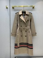 Женские траншеи 3121 осень с длинным рукавом отворотный шеи куртки дизайнер бренд же стиль верхняя одежда 0714-8