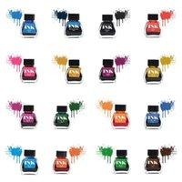 Фонтанские ручки 30 мл в бутылках Стекло гладкий сочинительство ручка чернила пополнение школ студенческие канцтовары офисные принадлежности 16 цветов оптовые
