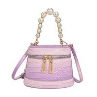 HBP Tendencia Bolsas de hombro Verano Nuevo gradiente Color Pearl Bucket Handbag 2021 Patrón de cocodrilo Hombros con estilo Trend Messenger Bag