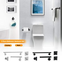 Bath Accessory Set 5PCS 304 Stainless Steel Liquid Soap Holder Towel Bar Bathroom Accessories Toothbrush Quality Hardware