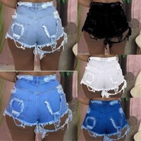 Fashion Sexy Women Jeans 2021 Summer Hollow Out Denim Shorts Womens Clothing S-3XL