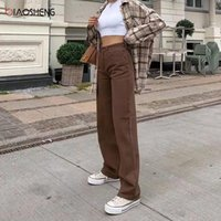 Frauen Jeans Biao Sheng Frauen Hosen Gerade Bein Slim Mode Lässig Baggy Denim Hose Hohe Taille Lose Wide Jean