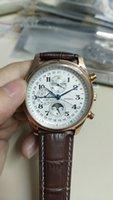 Высочайшее качество мужчина часы механические автоматические часы для мужчин белый циферблат кожаный ремешок 001