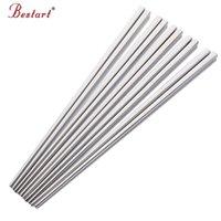 10 пар палочки для палочек из нержавеющей стали Hashi Sushi палочка китайские палочки для еды кваликовых палочек наборы посуды