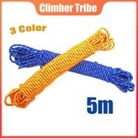 Cordons, élingues et sangles de 5m 8mm d'alpinisme en plein air alpinisme corde d'escalade de camping hamac paracord survie sauvetage cordes de sécurité protectrices