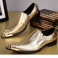 Neue Ankunft Schlangenkin Echtes Leder Bräutigam Schuhe Metallic Cinhhide Beste Männer Schuhe Oxfords Business Schuhe Italienisch Spitzgröße 37-46
