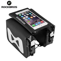 ROCKBROS Bike Bags 6.2 Inch Phone Bag Waterproof High Capacity Top Tube Frame Bicycle Pouch 2 In 1 Portable Touch Screen Cycling Accessories