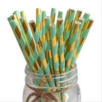 분해 가능한 종이 일회용 환경 보호 짚 파티 크리스마스 장식 녹색 음료 주스 밀짚 100 조각