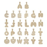 New Fashion 18K Gold Plated Custom Name Letters ICED OUT Pendant Necklace with Rope Chain Personalized for Men