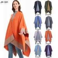 Femmes enveloppe Couleur pure Chantit Châle Climatiseur intérieur Pashmina Cloak Spring et Automne Foulards Foulards 8 Couleurs 2361 Y2