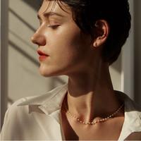 Einfache Nachahmung Perle Perlen Kette Choker Halskette Aussage Halsketten Für Frauen Sommer Strand Boho Mode Sex Schmuck Prom Zubehör