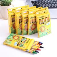 60013 Crayon 8-rengi 12 24 Boya Sbrush Yağlıboya Sopa İlkokul Kırtasiye Renk Kalem Çocuk Gift3HT4