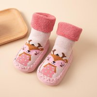 Socks Cute Pattern Baby Shoes Winter Warm Boys Girl Soft Soled Non-slip Born Infant First Walkers